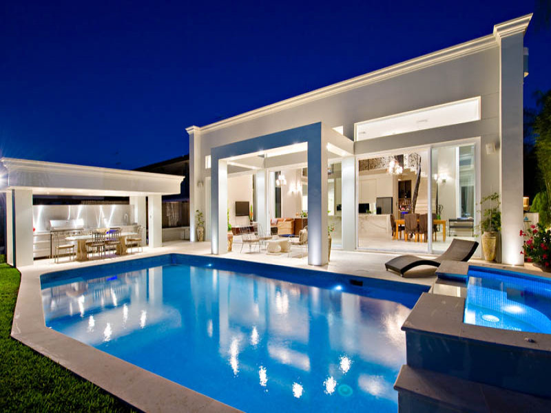 Photo Of A Geometric Pool From A Real Australian Home