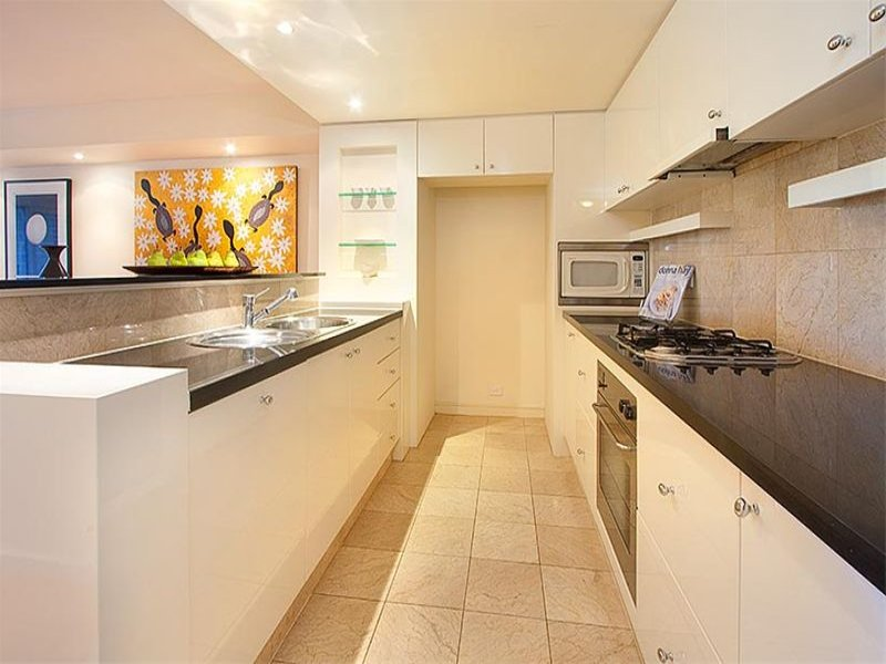 Modern Galley Kitchen Design Using Granite Kitchen Photo 495605