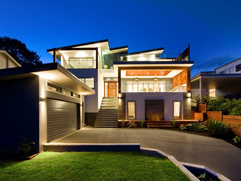 Photo Of A Concrete House Exterior From Real Australian Home House Facade P
