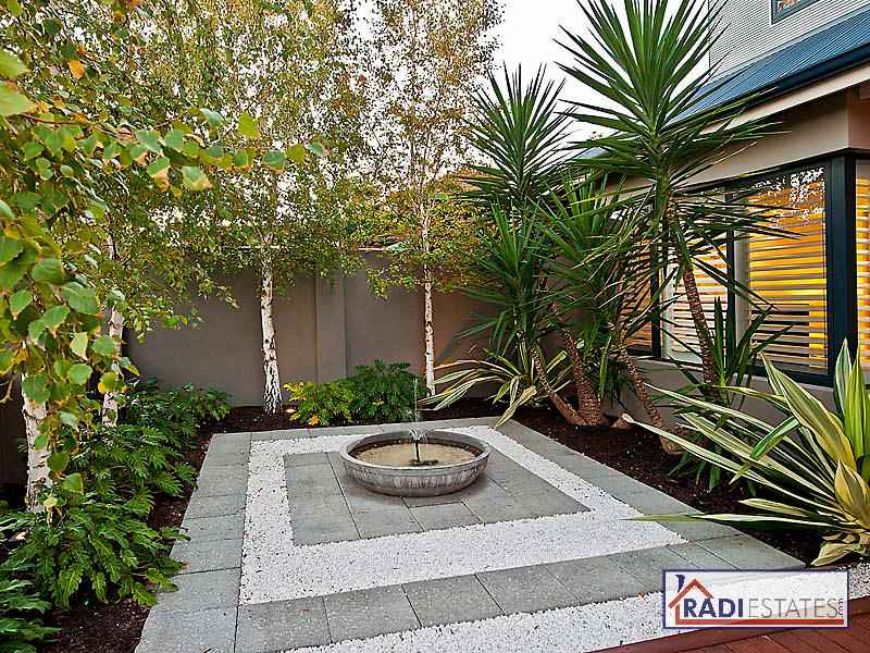 Photo of a tropical garden design from a real australian for Tropical courtyard garden design