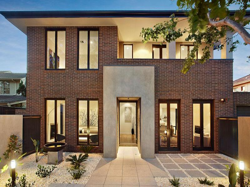 Photo of a brick house exterior from real australian home for Brick facade house