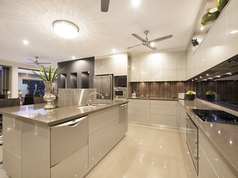 Modern open plan kitchen design using tiles kitchen for Open kitchen designs photo gallery