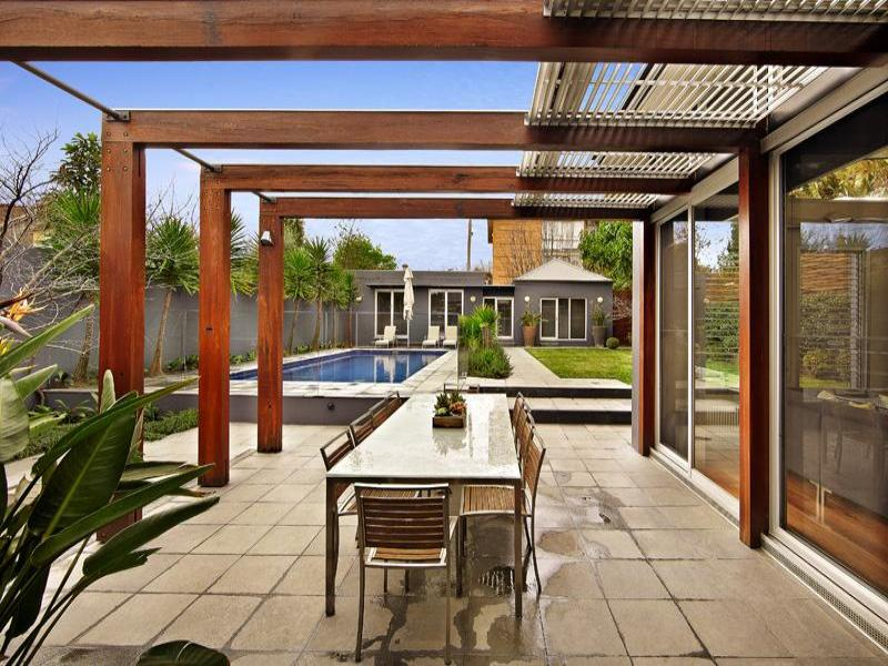 Outdoor living design with pergola from a real australian for Pergola designs