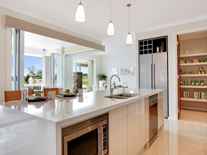 modern island kitchen design using stainless steel kitchen photo