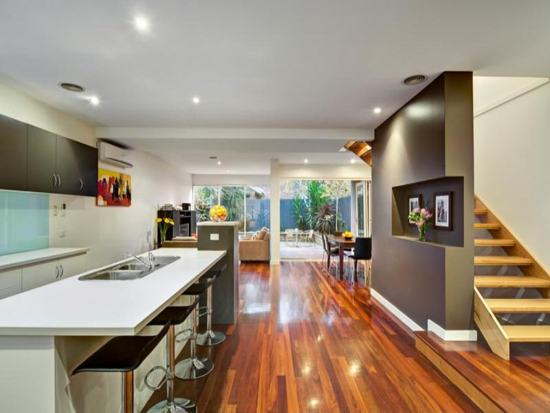 Modern open plan kitchen design using laminate kitchen Contemporary open plan kitchen
