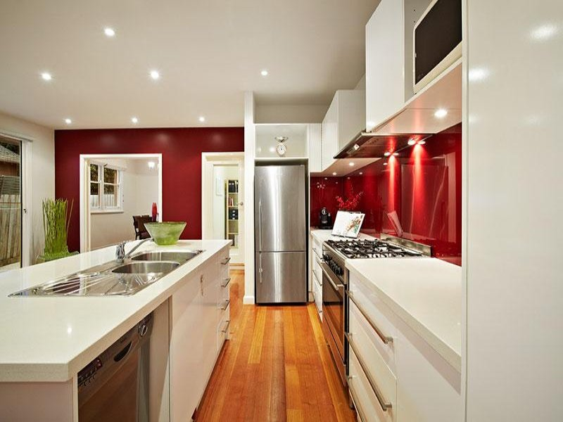 galley kitchen design using stainless steel - kitchen photo 932519