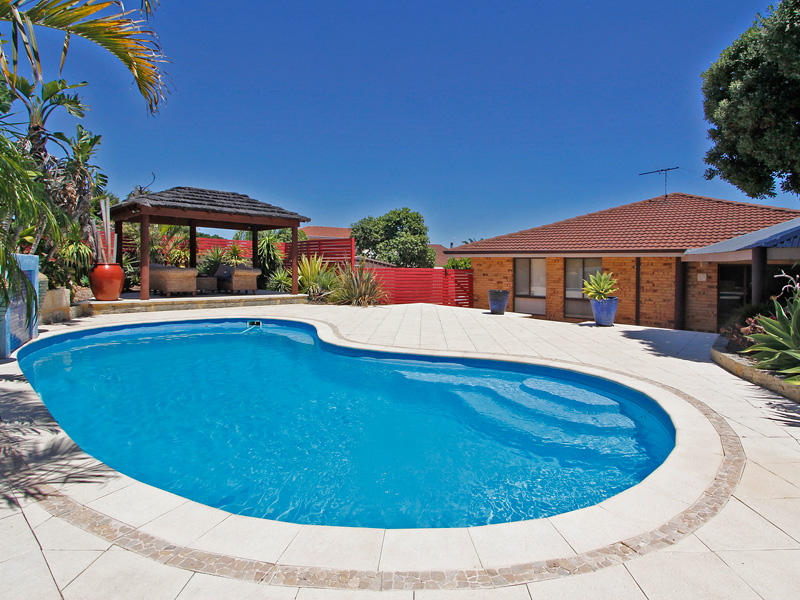 Pool Area Ideas swimming pool designs by millennium building services Like The Thatched Gazebo At The End If The Pool