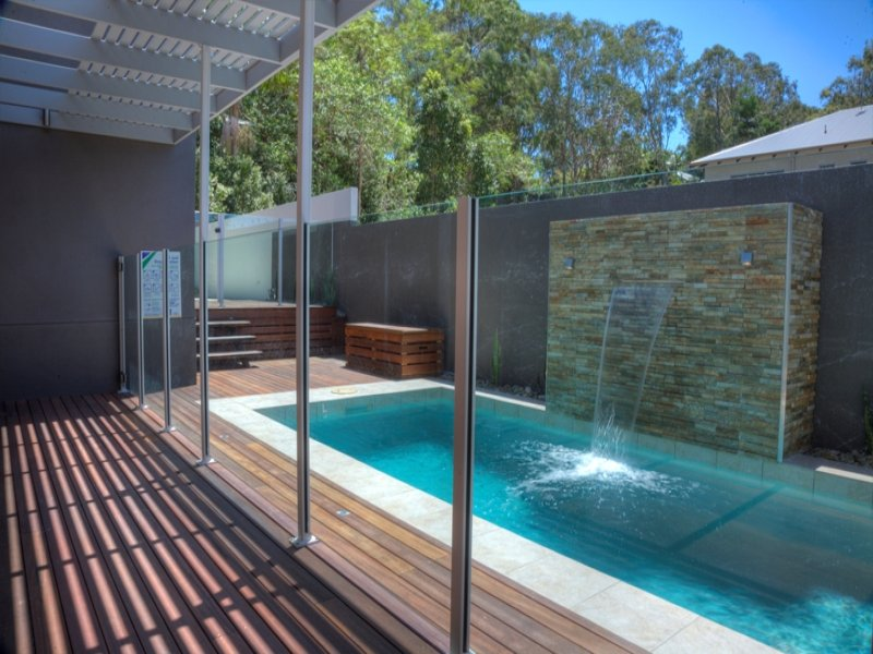 Indoor Pool Design Using Bluestone With Glass Balustrade