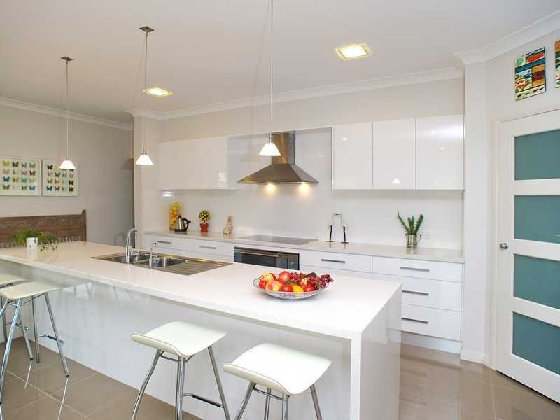 Down Lighting In A Kitchen Design From An Australian Home Kitchen Photo 655916