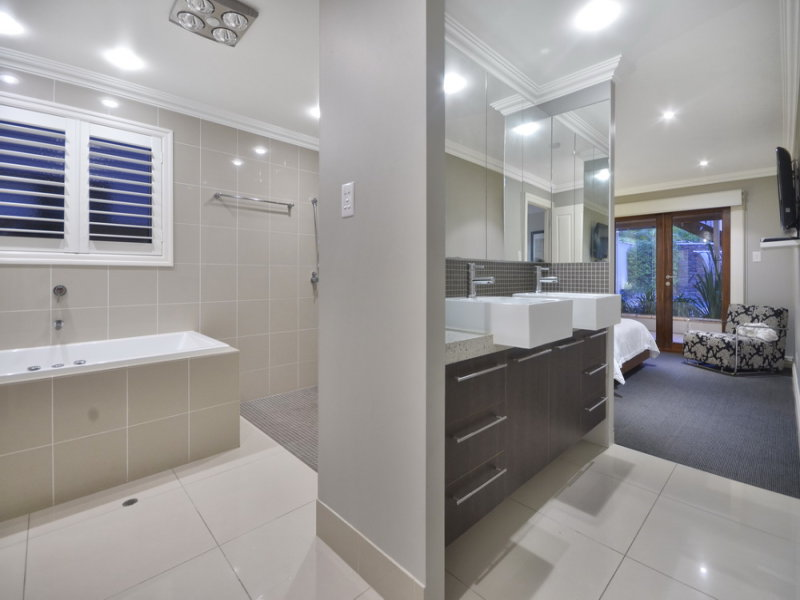granite in a bathroom design from an australian home bathroom photo 1059291