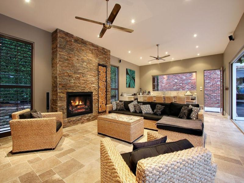 Neutral living room idea from a real australian home for Living area decor ideas