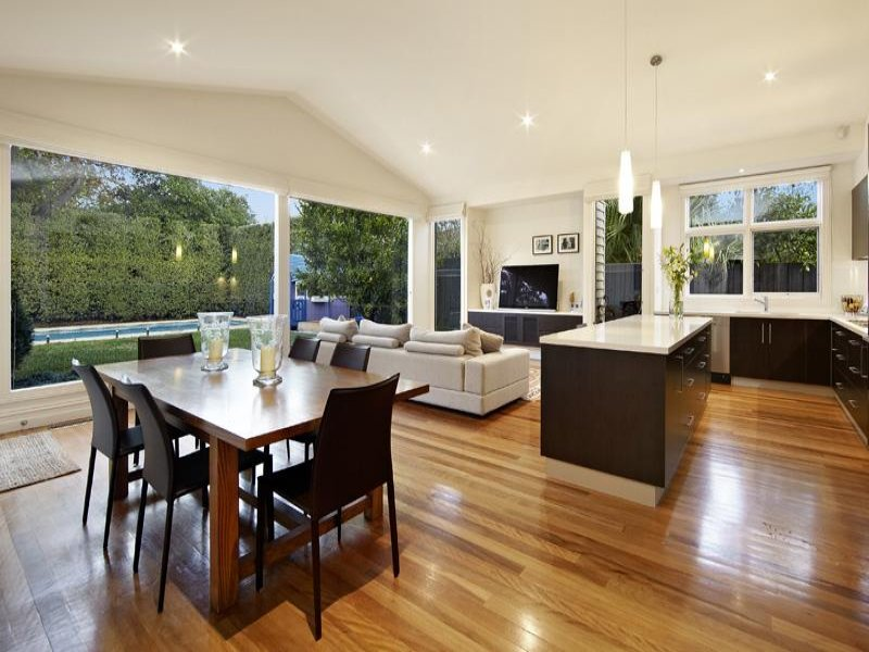 White dining room idea from a real australian home for Dining room ideas australia