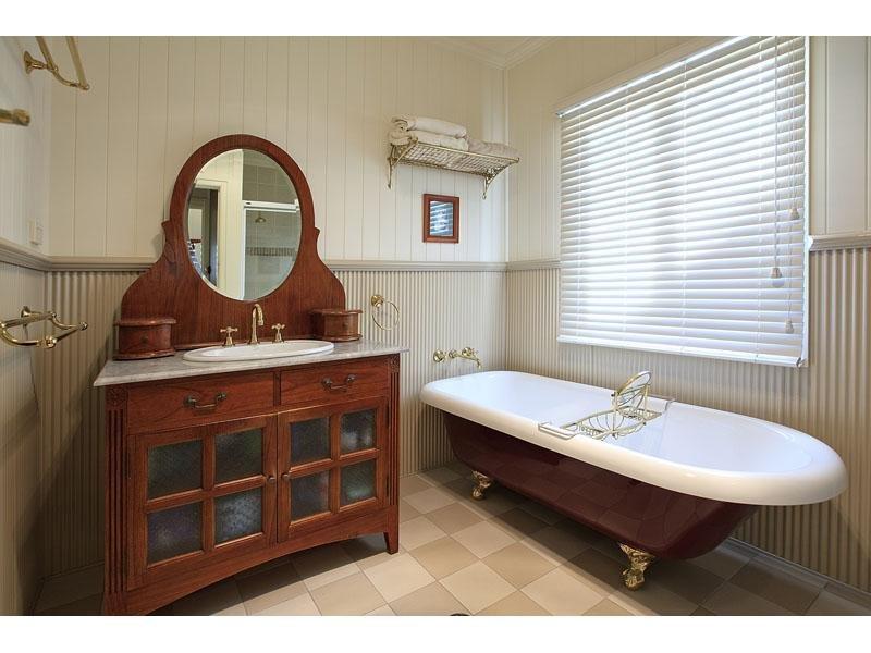 Bathroom Designs Qld bathroom design with claw foot bath using timber - bathroom photo