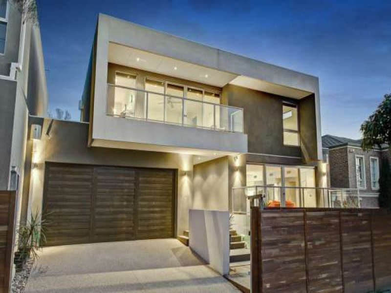 Photo of a concrete house exterior from real australian for Modern house facade home design