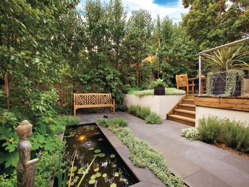 Photo of a garden design from a real australian house for New zealand garden designs ideas
