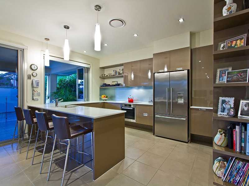Modern U Shaped Kitchen Design u-shaped kitchen design using stainless steel - kitchen photo 1547565