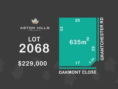Lot 2068, Oakmont Close (Aston Hills), Mount Barker