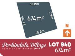 Lot 940, Parkindula Drive, Mount Barker