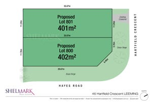 Lot 800, 46 Hartfield Crescent, Leeming, WA 6149