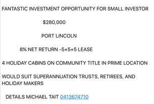 Fabulous Investment Net 8% Return, Port Lincoln, SA 5606