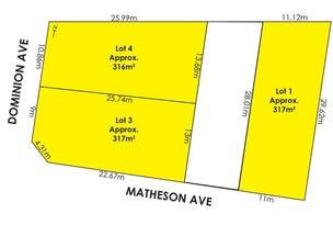 Lot/1 Matheson Avenue & Lots 3 & 4 Dominion Avenue, Findon, SA 5023