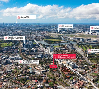 5-9 Eden Street and 39 Burrows Street, Arncliffe, NSW 2205
