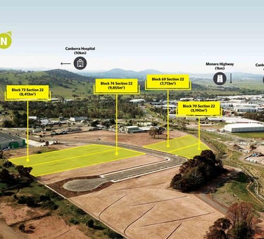 Paspaley St - 4 Blocks, Industrial Land for Sale, 10 Paspaley Street, Hume, ACT 2620