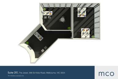 The Jewel, Suite 217, 566 St Kilda Road Melbourne VIC 3004 - Floor Plan 1