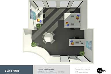 Collins Street Tower, Suite 408, 480 Collins Street Melbourne VIC 3000 - Floor Plan 1
