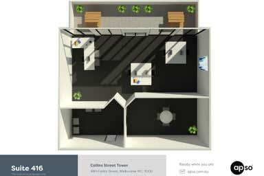 Collins Street Tower, Suite 416, 480 Collins Street Melbourne VIC 3000 - Floor Plan 1