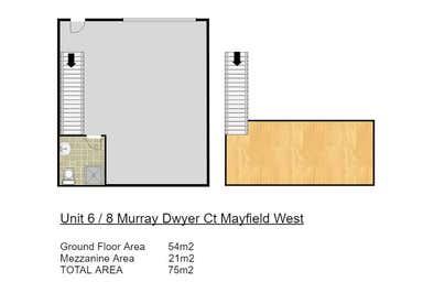6/8 Murray Dwyer Ct Mayfield NSW 2304 - Floor Plan 1