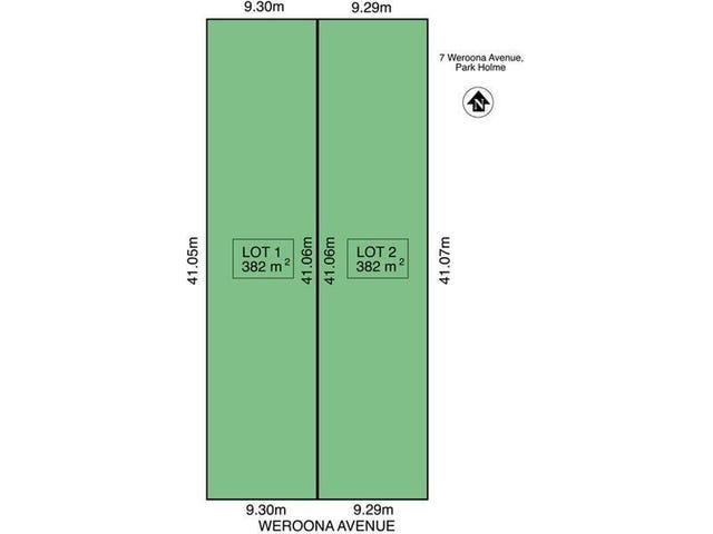 Lot 1 & 2/7 Weroona  Avenue, Park Holme, SA 5043