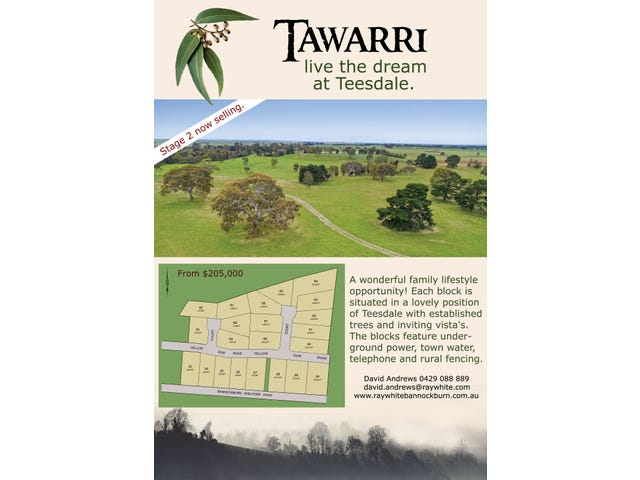 Tawarri Estate Bannockburn-Shelford Road, Teesdale, Vic 3328