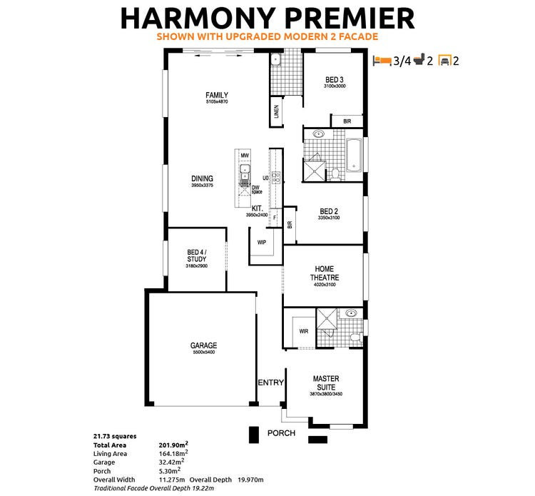 Harmony Floor Plan
