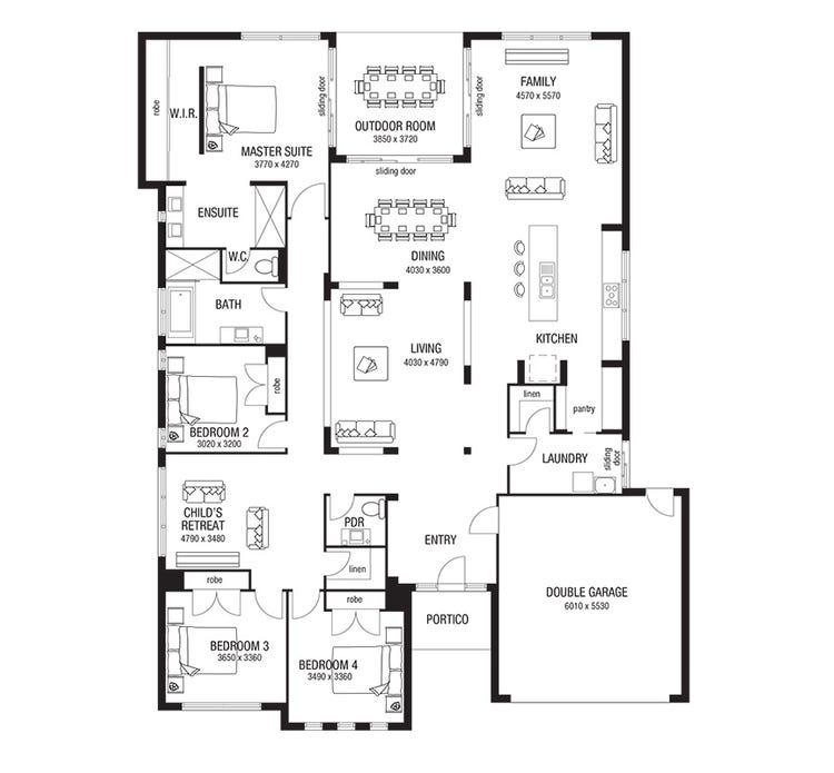 House Plan By Metricon Homes Qld Pty Ltd