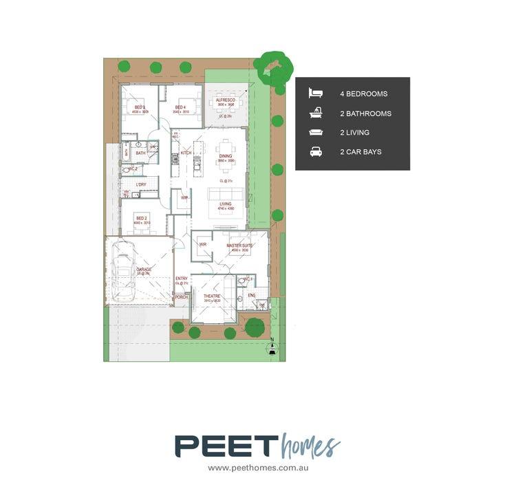 Hovea   15 X 25m Floor Plan