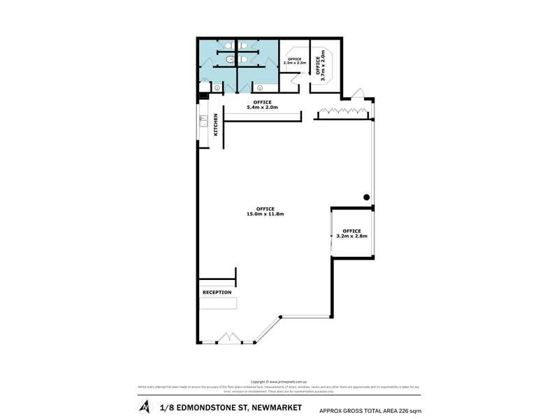 Shop 1, 8 Edmondstone street Newmarket QLD 4051 - Floor Plan 1