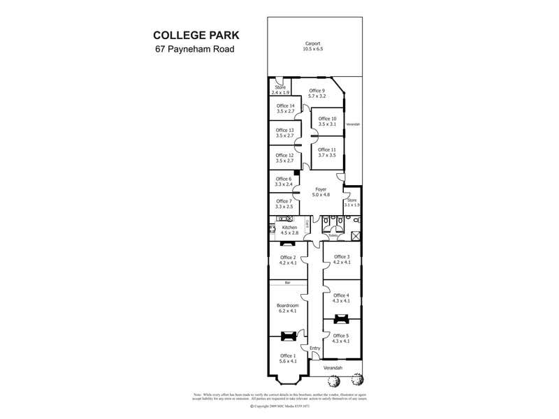 67 Payneham Road College Park SA 5069 - Floor Plan 1