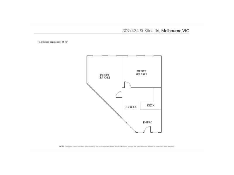 309/434 St Kilda Road Melbourne VIC 3004 - Floor Plan 1