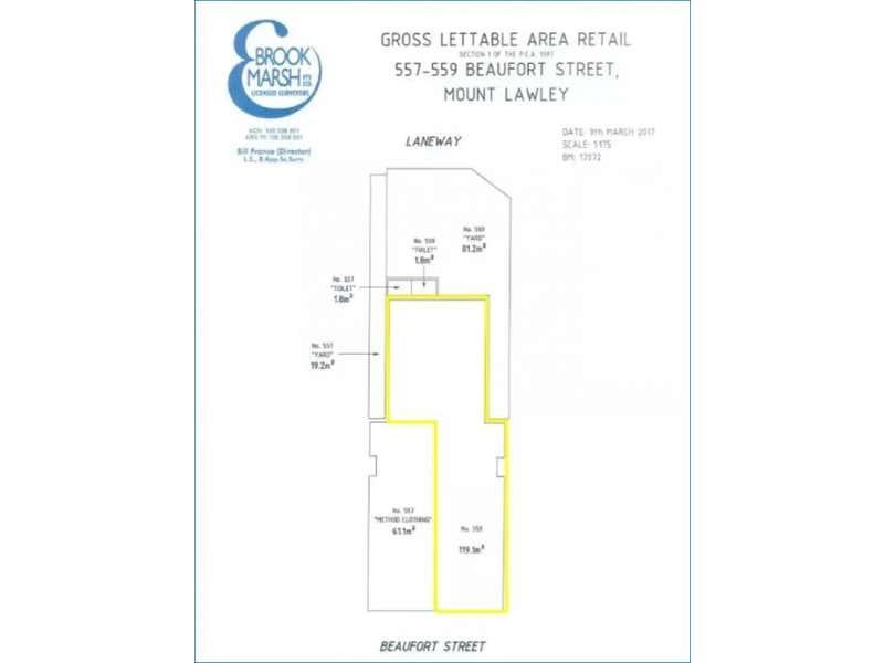 559 Beaufort Street Mount Lawley WA 6050 - Floor Plan 1