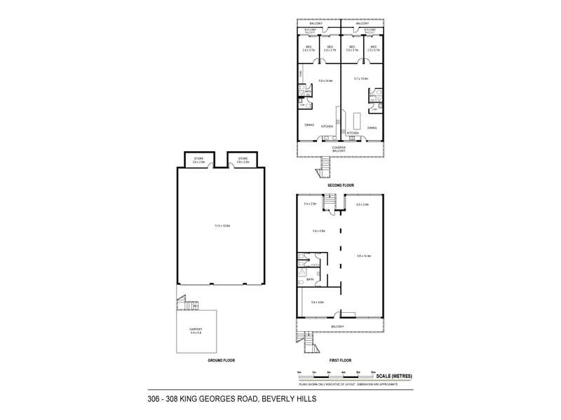 306-308 King Georges Road Beverly Hills NSW 2209 - Floor Plan 1