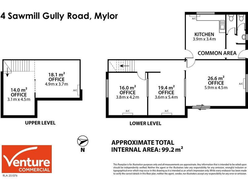 Office Suite, 4 Sawmill Gully Road Mylor SA 5153 - Floor Plan 1