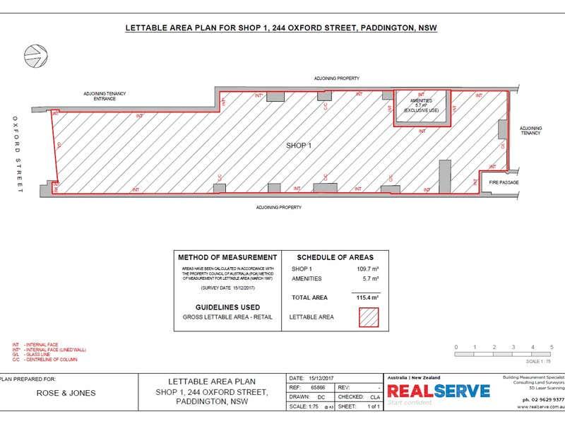 1/244 Oxford Street Paddington NSW 2021 - Floor Plan 1