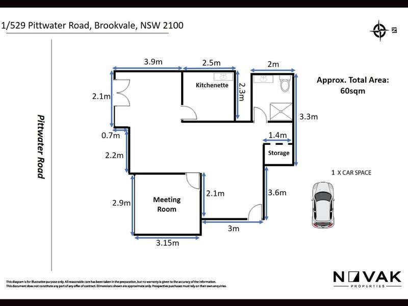 1/529  Pittwater Road Brookvale NSW 2100 - Floor Plan 1