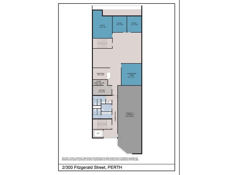 2/300 Fitzgerald Street North Perth WA 6006 - Floor Plan 1