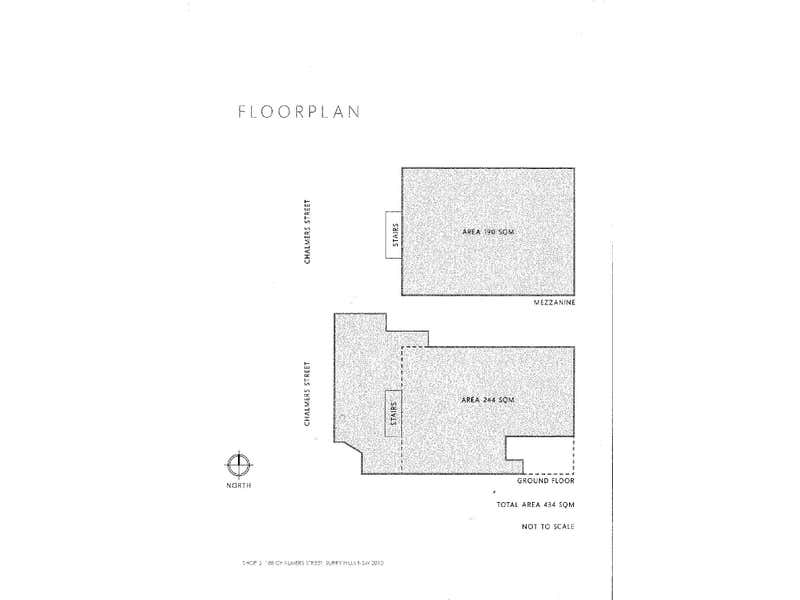 CAR SPACE, 188 Chalmers Street Surry Hills NSW 2010 - Floor Plan 1