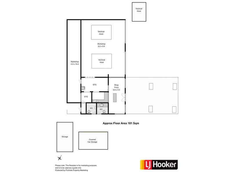 BP Wyndham Road Service Station, 34 Wyndham Road Claremont TAS 7011 - Floor Plan 1