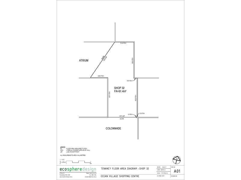 Ocean Village Shopping Centre, 32/84 Rajah Road Ocean Shores NSW 2483 - Floor Plan 1