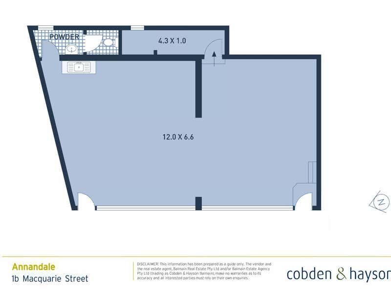 1b Macquarie Street Annandale NSW 2038 - Floor Plan 1