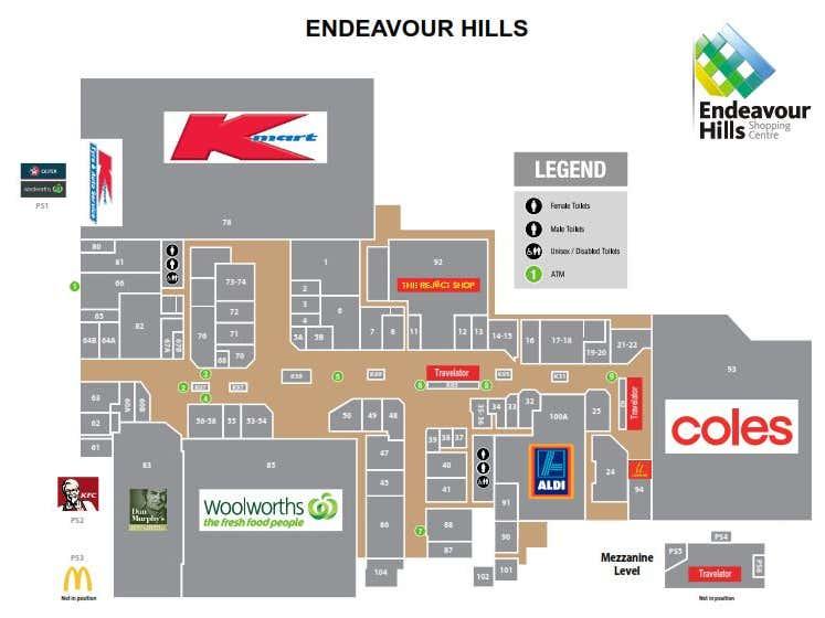 Endeavour Hills Shopping Centre, 78 Heatherton Road Endeavour Hills VIC 3802 - Floor Plan 1